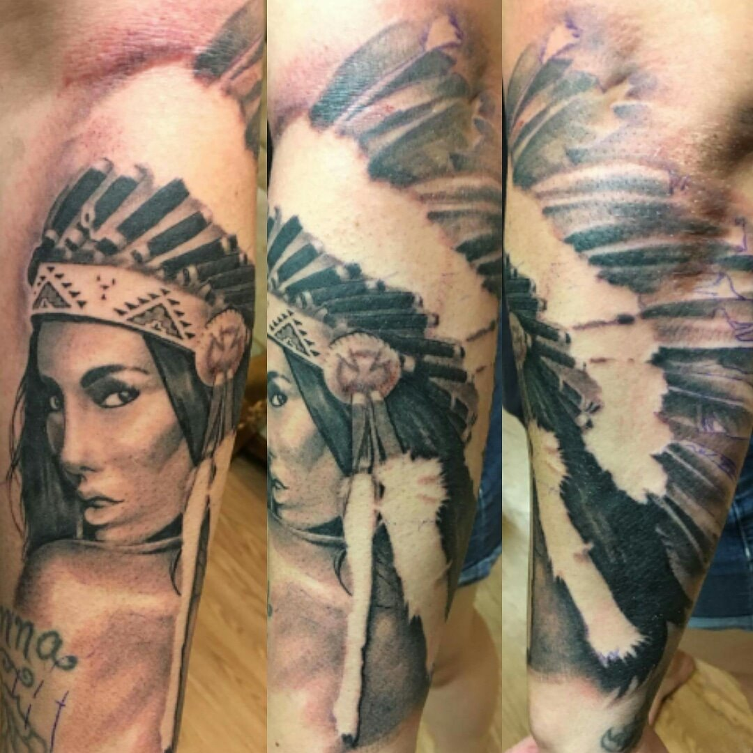 Headdress Tattoo — Clay Walker