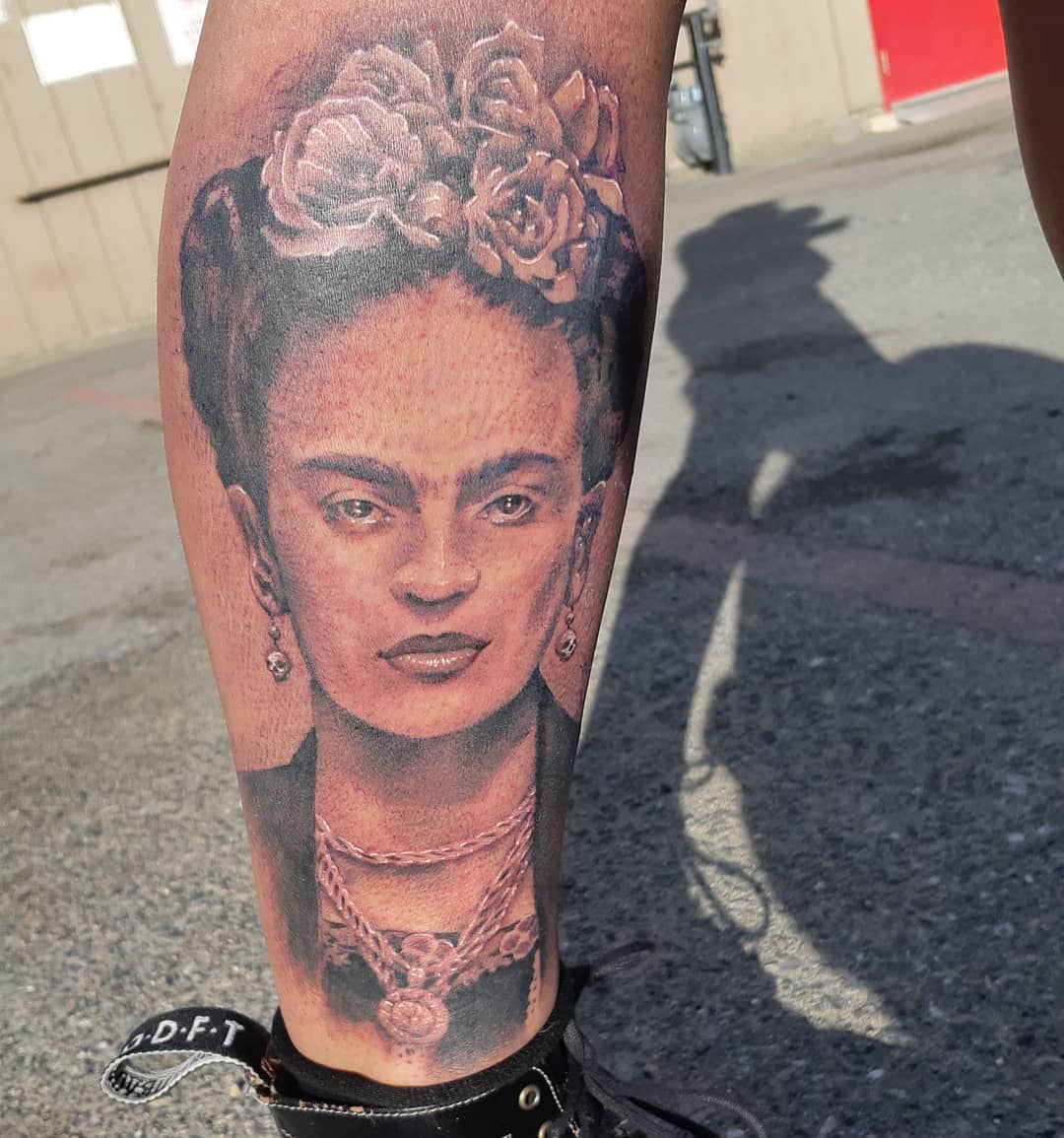 Frida Kahlo Tattoo — Clay Walker