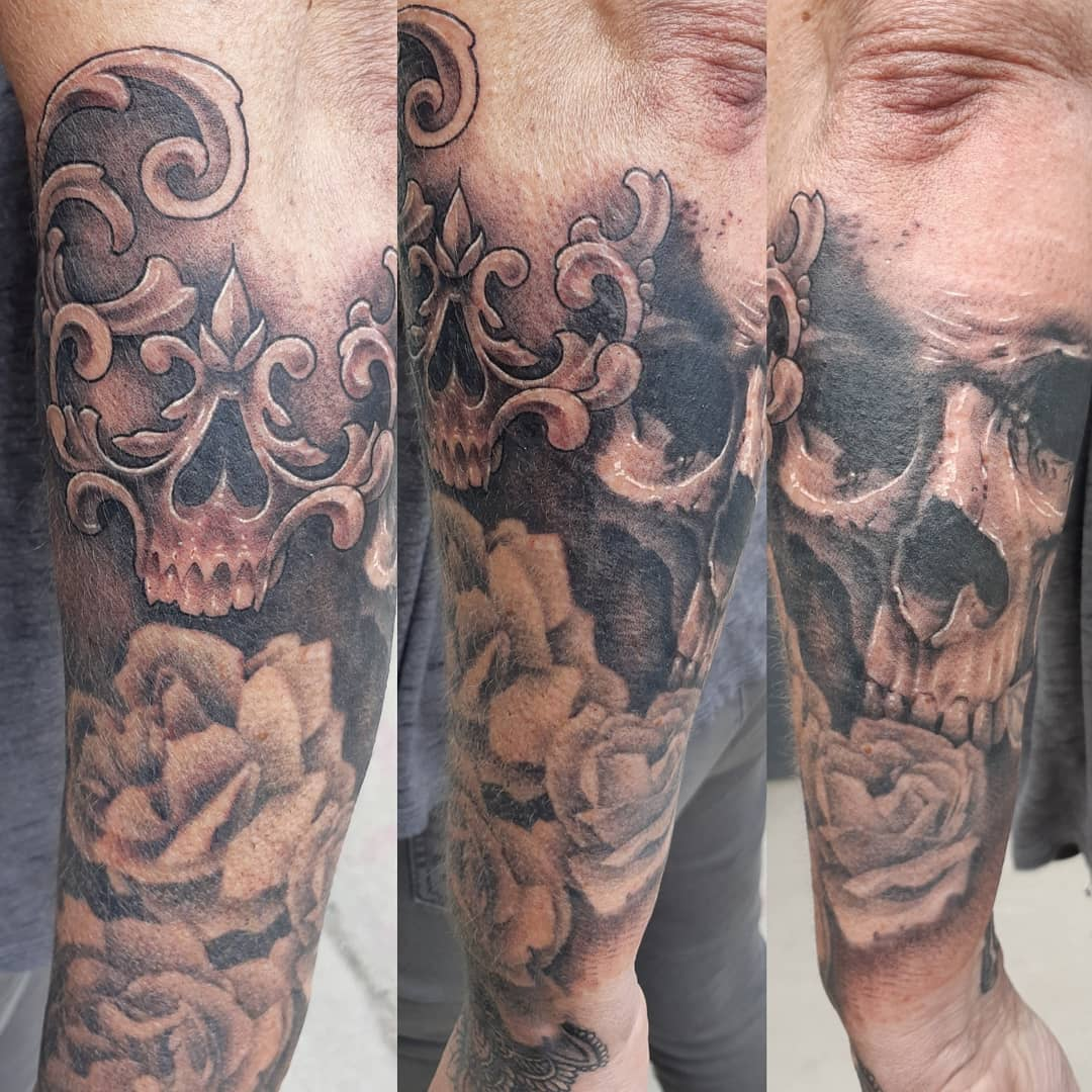 Skull Tattoo — Clay Walker