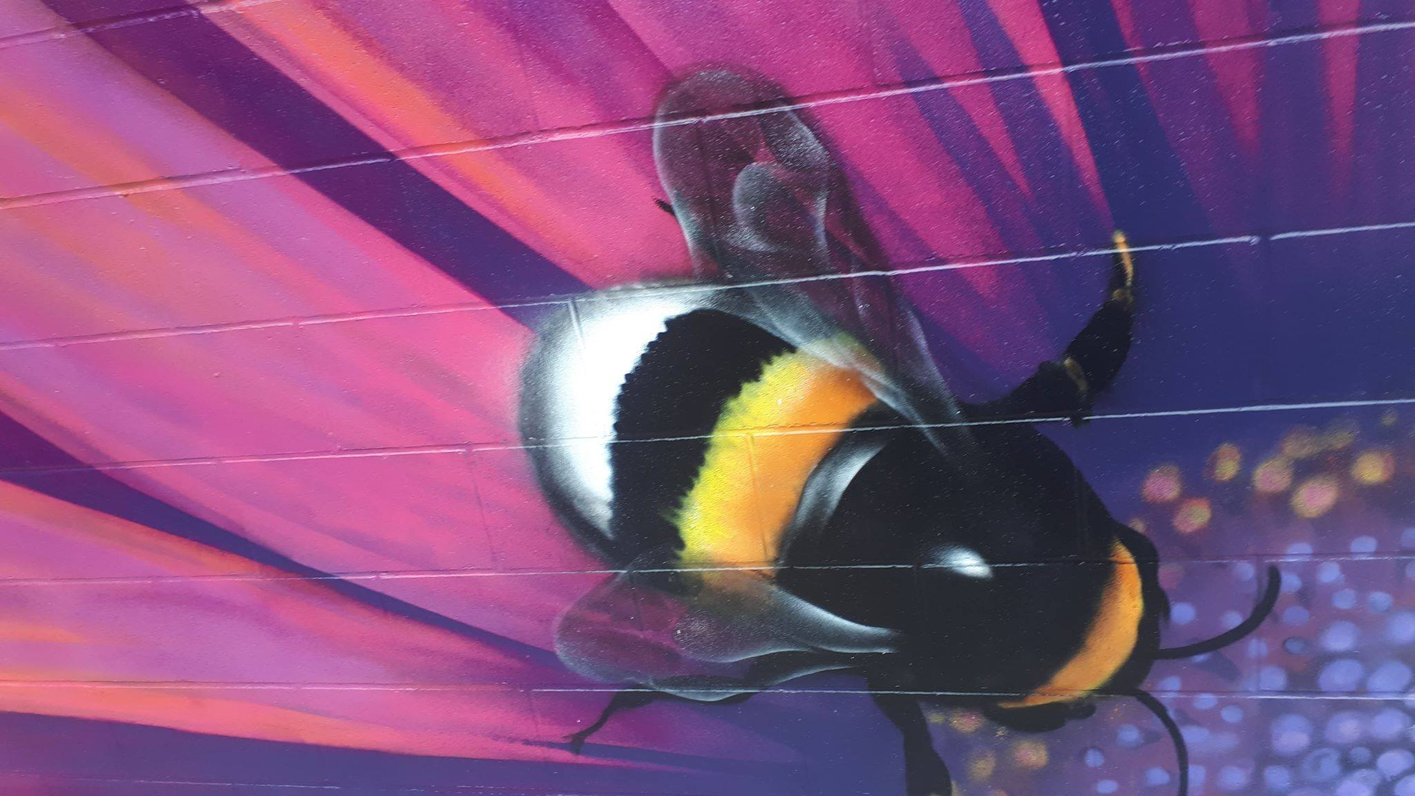 Bee Mural — Kelly Wright