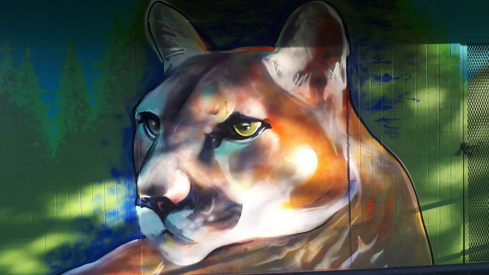 Cougar Mural — Kelly Wright